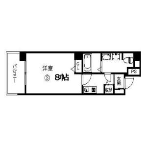 1K Mansion in Sakuragawa - Osaka-shi Naniwa-ku Floorplan
