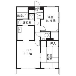 2LDK Apartment in Maginu - Kawasaki-shi Miyamae-ku Floorplan