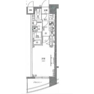 1K Mansion in Sakuragicho(4-7-chome) - Yokohama-shi Nishi-ku Floorplan