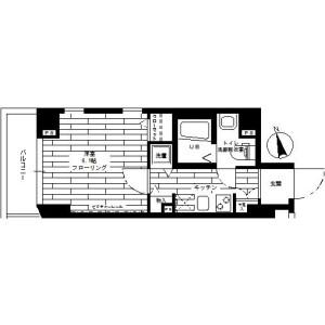 1K Mansion in Ohashi - Meguro-ku Floorplan