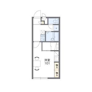 1K Apartment in Fukumaekihigashi - Fukutsu-shi Floorplan