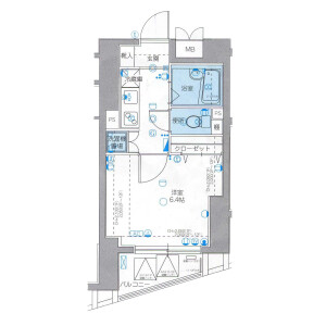 1K Mansion in Tsukiji - Chuo-ku Floorplan