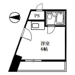 千代田区 神田小川町 1R マンション 間取り