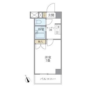 1K Mansion in Ebisuminami - Shibuya-ku Floorplan