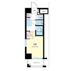 品川区大崎-1K公寓大厦 楼层布局