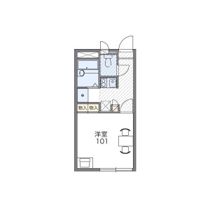1K Apartment in Sumiyoshicho - Fuchu-shi Floorplan