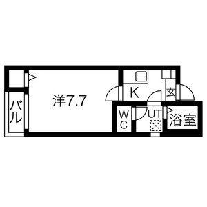 1K Apartment in Osugicho - Nagoya-shi Kita-ku Floorplan