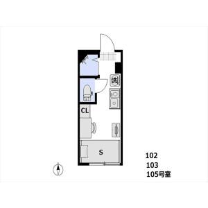 1R Apartment in Izumi - Suginami-ku Floorplan