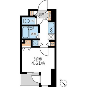 1K Mansion in Roppongi - Minato-ku Floorplan