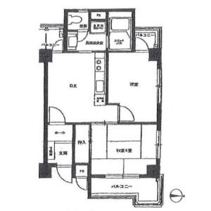 2DK Mansion in Shirokane - Minato-ku Floorplan