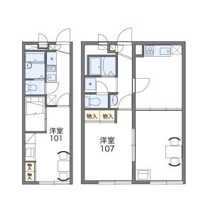 2DK Mansion in Higashinaganuma - Inagi-shi Floorplan