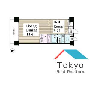 1LDK Mansion in Honcho - Nakano-ku Floorplan
