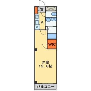 1K Mansion in Honcho - Funabashi-shi Floorplan