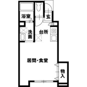 1R Apartment in Azuma - Kashiwa-shi Floorplan