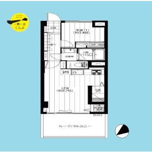 1LDK {building type} in Wakabayashi - Setagaya-ku Floorplan