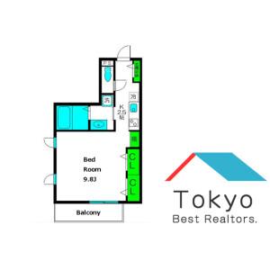 1K Apartment in Takadanobaba - Shinjuku-ku Floorplan