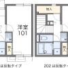 1K Apartment to Rent in Yokosuka-shi Floorplan
