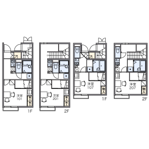 1K Apartment in Kitami - Setagaya-ku Floorplan