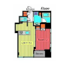 1LDK Apartment to Rent in Chuo-ku Floorplan