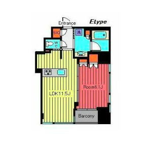 1LDK Mansion in Nihombashi - Chuo-ku Floorplan