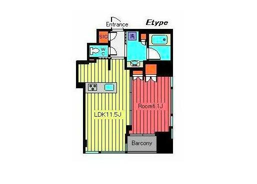 在中央區內租賃1LDK 公寓大廈 的房產 房間格局