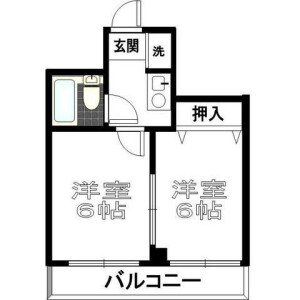 2K Mansion in Ogibashi - Koto-ku Floorplan
