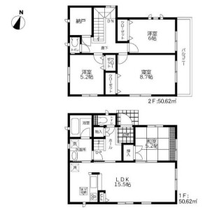 4SLDK House in Yokomizo - Mizuma-gun Oki-machi Floorplan