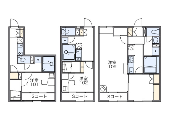 1K Apartment to Rent in Sapporo-shi Toyohira-ku Floorplan