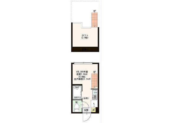 1R Apartment to Rent in Yokohama-shi Hodogaya-ku Floorplan