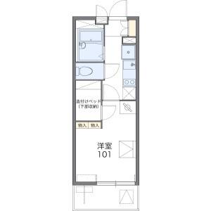 1K Mansion in Kanoedai - Yokohama-shi Minami-ku Floorplan