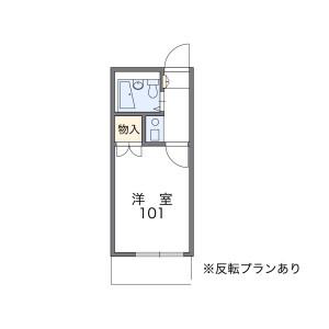 1K Apartment in Nishioizumi - Nerima-ku Floorplan