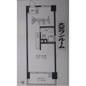 1R {building type} in Tomioka - Koto-ku Floorplan