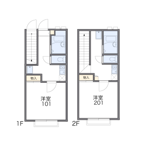 1K Apartment in Nakaizumi - Komae-shi Floorplan
