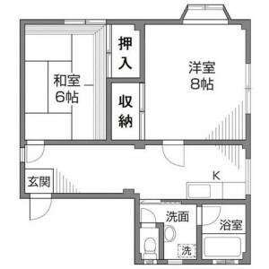 2DK Mansion in Tabata - Kita-ku Floorplan