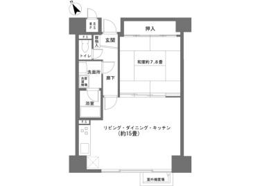 1LDK Apartment to Buy in Minamitsuru-gun Fujikawaguchiko-machi Floorplan