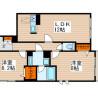2LDK Apartment to Rent in Nakano-ku Floorplan