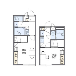 1K Apartment in Nakatahigashi - Yokohama-shi Izumi-ku Floorplan