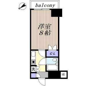1K {building type} in Omorinishi - Ota-ku Floorplan