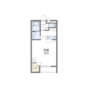 1K Apartment in Onosato - Sennan-shi Floorplan