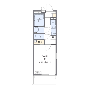 1K Mansion in Higashiyaguchi - Ota-ku Floorplan