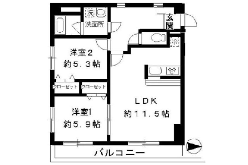 2LDK Apartment to Rent in Katsushika-ku Exterior