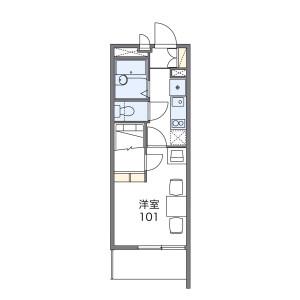 1K Apartment in Niizo - Toda-shi Floorplan