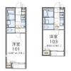 在練馬區內租賃1K 公寓 的房產 房間格局