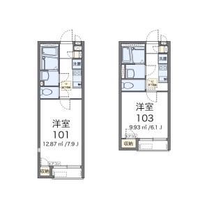 練馬區南田中-1K公寓 房間格局