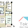 2SLDK Apartment to Rent in Nakano-ku Floorplan