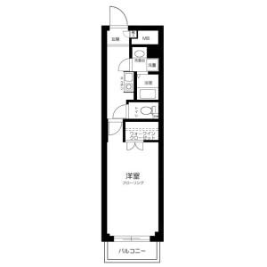 1K Mansion in Horai - Saitama-shi Nishi-ku Floorplan