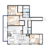3LDK Apartment to Rent in Sapporo-shi Chuo-ku Floorplan