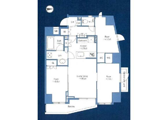 3LDK Apartment to Buy in Arakawa-ku Floorplan