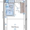 在新宿区购买1K 公寓大厦的 楼层布局