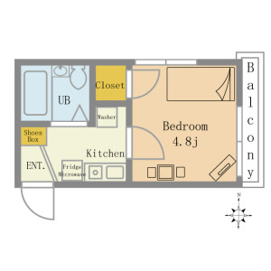 Flex Yokohama Tsunashima  - Serviced Apartment, Yokohama-shi Kohoku-ku Floorplan